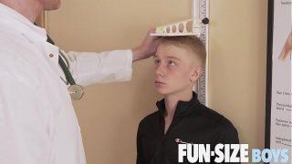 FunSizeBoys – Giant hung doctor fucks tiny blond twink bareback